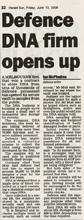 DNA Solutions sur le journal Herald Sun
